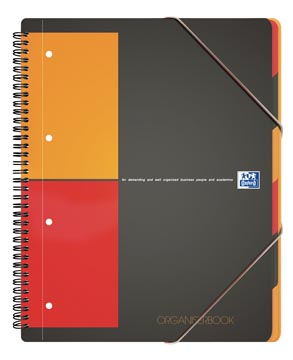 Oxford INTERNATIONAL organiserbook, 160 pages, ft A4+, quadrillé 5 mm