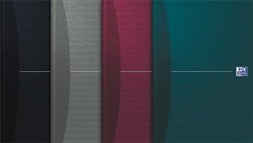 Oxford Office Essentials cahier, couverture rigide, 192 pages, ft A4, quadrillé 5 mm, couleurs assorties