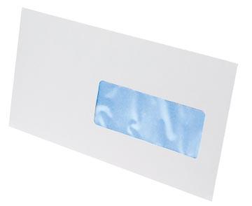 Gallery enveloppes, ft 114 x 229 mm, bande adhésive, fenêtre à droite (ft 40 x 110 mm)