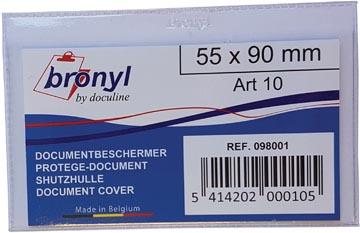 Bronyl étui en U en PVC transparente de 140 microns, ft carte de crédit