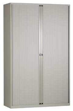 Bisley armoire à rideaux, ft 198 x 120 x 43 cm (h x l x p), 4 tablettes, gris clair