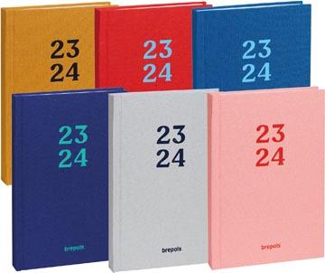 Brepols journal de classe étudiant Rainbow, couleurs assorties, 2021-2022