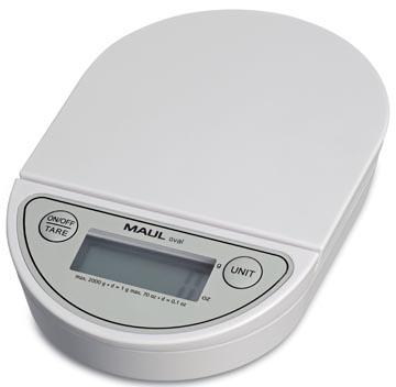 Maul pèse-lettres MAULoval, pèse jusqu'à 2 kg, intervalle de poids de 1 g