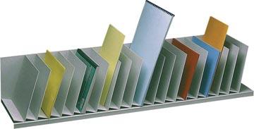 Paperflow trieur à cases fixes, inclinées, 20 cases, largeur 111,5 cm