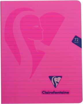Clairefontaine cahier mimesys pour ft A5, 72 pages, couverture en PP, ligné, couleurs assorties