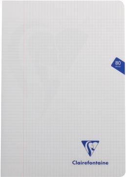 Clairefontaine cahier mimesys pour ft A4, 80 pages, couverture en PP, quadrillé 5 mm, couleurs assorties