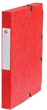 Pergamy boîte de classement, dos de 4 cm, rouge