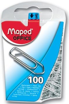 Maped trombones, boîte de 100 pièces
