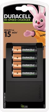 Duracell chargeur Hi-speed Expert Charger, 4 AA piles inclus, sous blister
