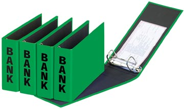Pagna classeur à anneaux (CCP) ft 14 x 25 cm, vert, exécution brillante avec typographie noire