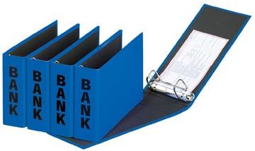 Pagna classeur à anneaux (CCP) ft 14 x 25 cm, bleu, exécution brillante avec typographie noire
