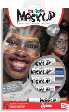 Carioca bâtons de maquillage Mask Up Metallic, boîte avec 6 bâtons