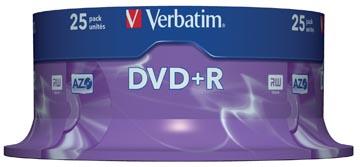 Verbatim DVD enregistrable DVD+R, spindle de 25 pièces
