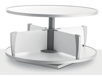 Moll colonne rotative Multifile, modèle de table, hauteur 45 cm, jusq'à 24 classeurs, blanc
