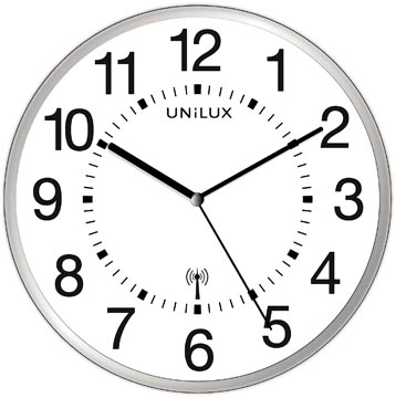 Unilux horloge Wave, radiogestuurd, diamètre 30 cm, gris et blanc