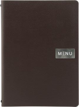 Securit protège-menu leather Raw, ft A4, brun
