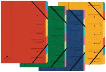 Exacompte Trieur-classeur 7 compartiments, couleurs assorties