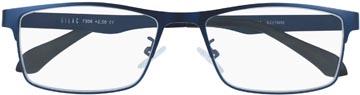 SILAC Blue Metal lunettes de lecture, métal san nickel bleu mat, +3,00