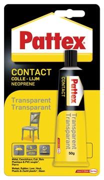Pattex colle de contact Transparent, tube de 50 g, sous blister