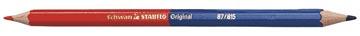 STABILO Original rouge/bleu crayon