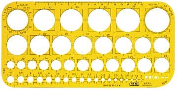 M+R gabarit de cerle, cercles de 1 à 36 mm