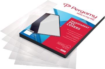 Pergamy couvertures en PVC, transparent, ft A4, 200 microns , paquet de 100 pièces