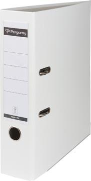 Pergamy classeur, pour ft A4, en carton recouvert de PP, dos de 8 cm, blanc