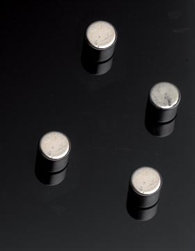 Naga aimant pour tableaux en verre, cylindre, 4 pièces