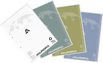 Aurora bloc de cours A4 70g quadrillé 5x5 avec marge, 100 feuilles
