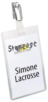 Durable badge avec clip ft 90 x 60 mm, vertical
