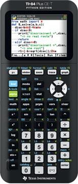 Texas calculatrice graphique TI-84 Plus CE-T Python edition, noir