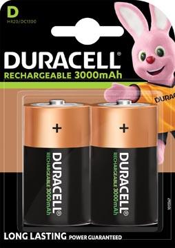 Duracell piles rechargeables D, blister de 2 pièces