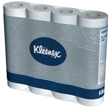 Kleenex papier toilette, 2 plis, 210 feuilles, paquet de 12 rouleaux