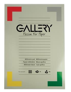 Gallery papier millimétré, ft 29,7 x 42 cm (A3)