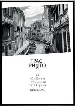 TPAC cadre photo aluminium, noir, ft A2
