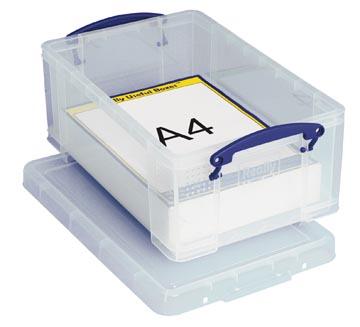 Really Useful Box boîte de rangement 9 l, transparent